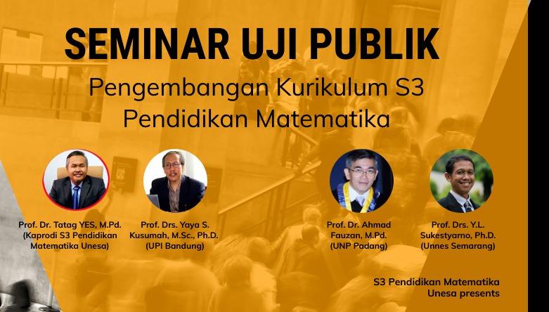 Seminar Uji Publik Kurikulum S3 Pendidikan Matematika Unesa Kamis 30 Juli 2020
